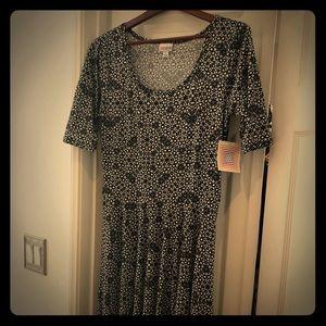 LulaRoe Black and White Dress - Large